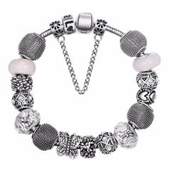 European Silver Plated Charm Bracelets & Bangles