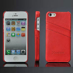 * iPhone Case*  5/5s Genuine Leather Cover with Card Slot