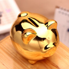 Fashion Ceramic Metallic Pig Bank