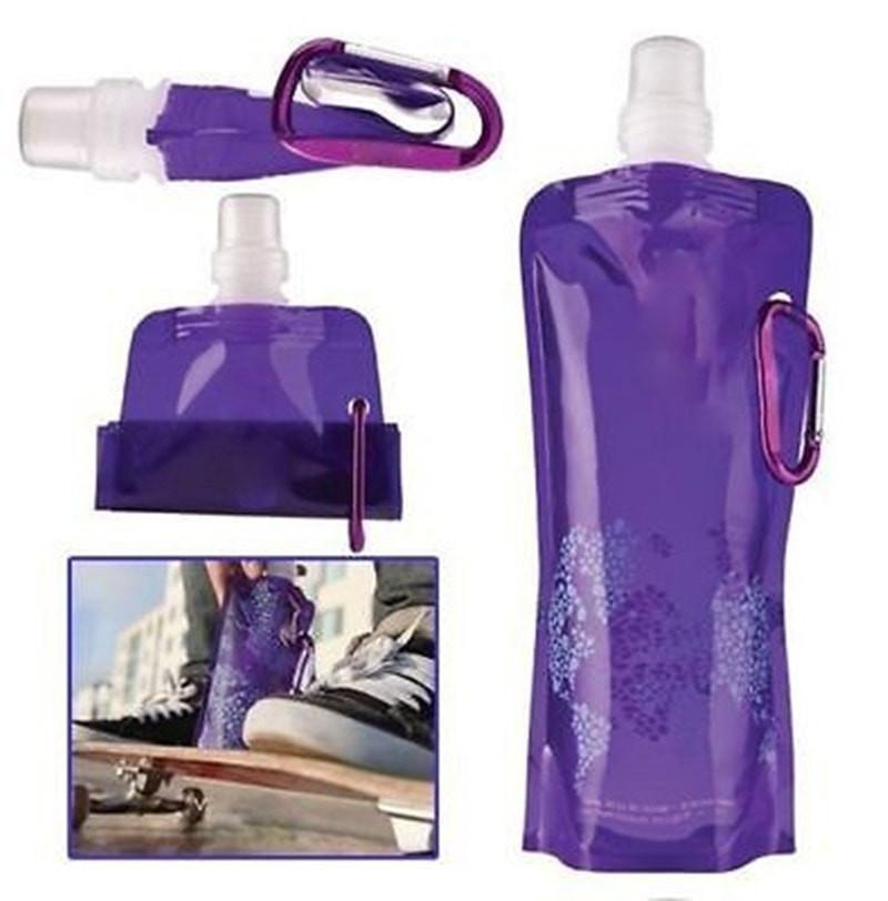 Flexible Foldable Reusable Water Bags with Hook