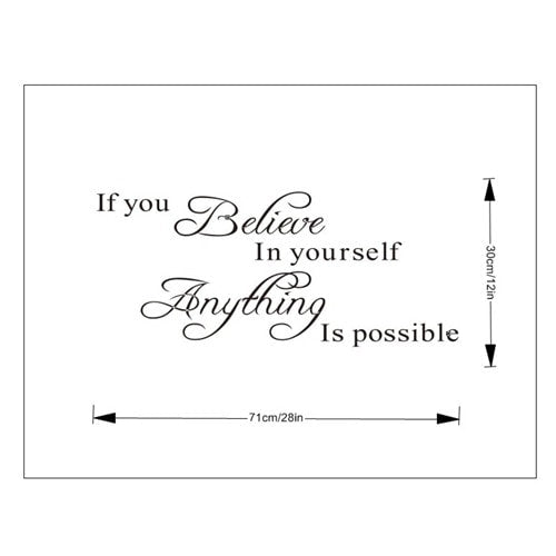 FREE If You Believe In Yourself.. Wall Sticker Quote