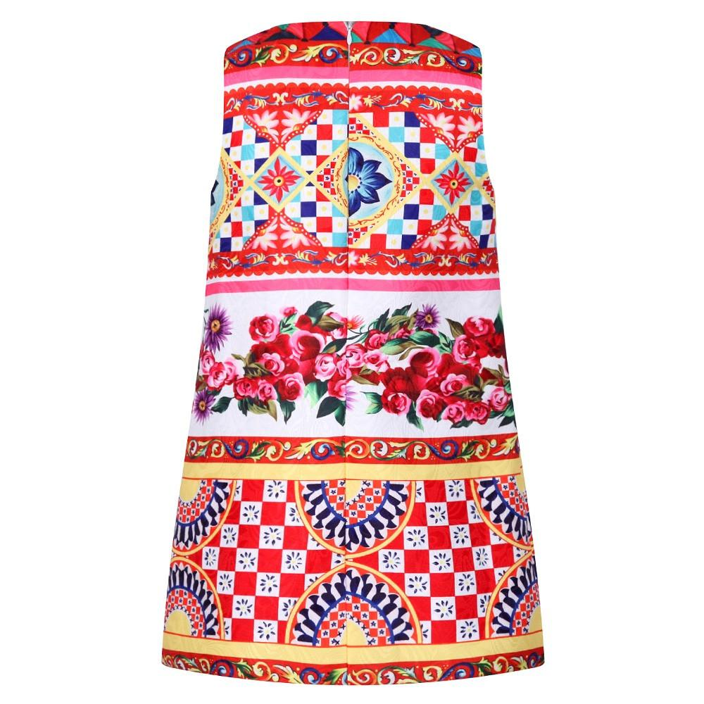 Casual Carretto Flower Dress