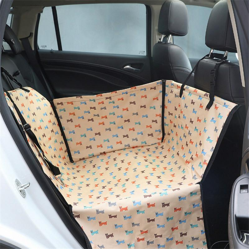 Anti-Fur Seat Cover-Pet Carrier Dog Car  Back Seat Carrier Cover Pet Dog Mat Blanket