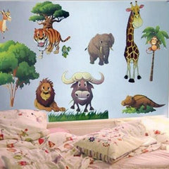 Animal Cartoon Vinyl Wall stickers for kids rooms