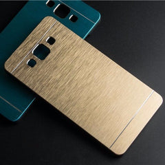 * Samsung  Case * Galaxy A5 A5000 - Luxury Brushed Metal Aluminium + PC material case