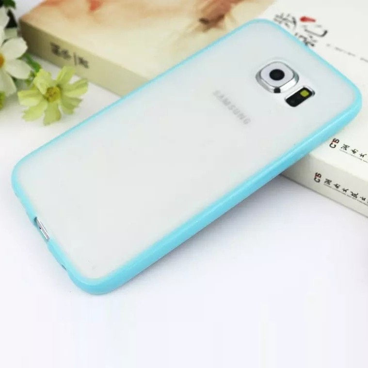 Samsung  Case Galaxy S6 Ultra-Tthin Grind Arenaceous Transparent Back cover with Color Frame