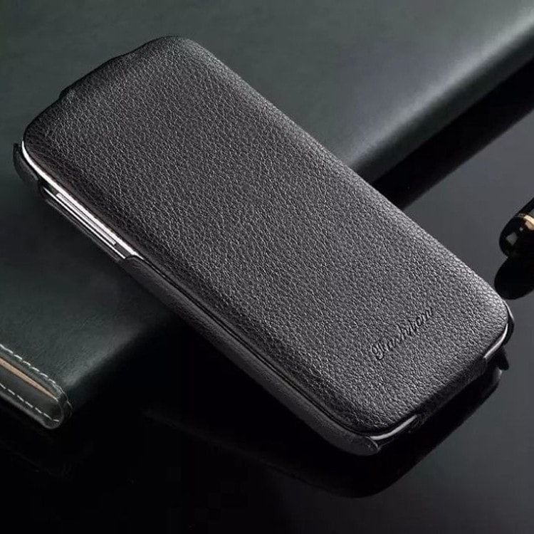 * Samsung  Case * S4/9500 Genuine Leather With Up And Down Flip Cover