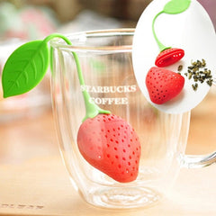 FREE Silicone Strawberry Design Loose Tea Leaf Strainer Herbal Spice