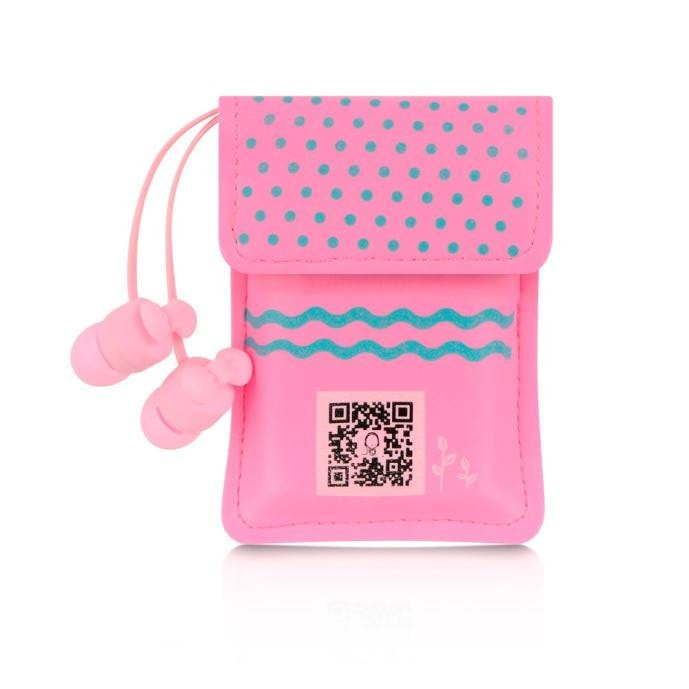 Colorful Earphones With Cute Bag