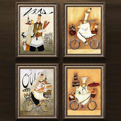 4 Panel Kitchen Decor Printed Painting