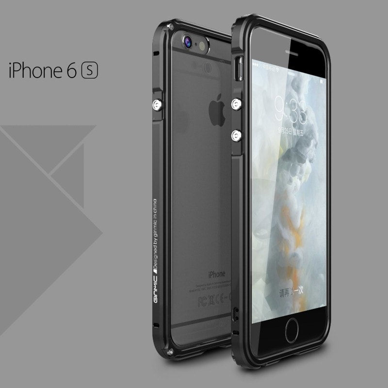 * iPhone Case*  6/ 6S/ 6/6s Plus Luxury Transparent PC + Ultrathin Aluminum Frame Back Protective Case
