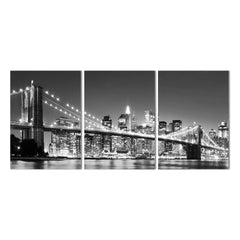 3 Panel New York Brooklyn bridge Canvas Art Print
