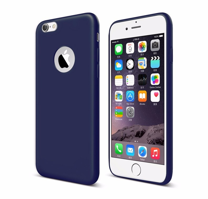 FREE * iPhone Case* 5, 5s, SE, 6, 6s, 6 Plus, 7, 7 Plus Candy Colors Soft Silicone with Logo Window
