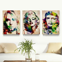 3 Panel Abstract Marilyn Monroe Spray Painting