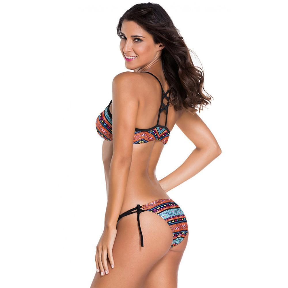 Sarah- Tribal Cut Out Bikini