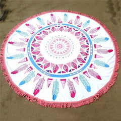 Feather Mandala Beach Blanket Yoga Tapestry