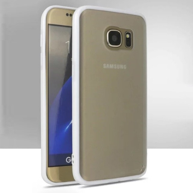 FREE * Samsung  Case * Galaxy S7 Ultra-Tthin Grind Arenaceous Transparent Back cover with Color Frame