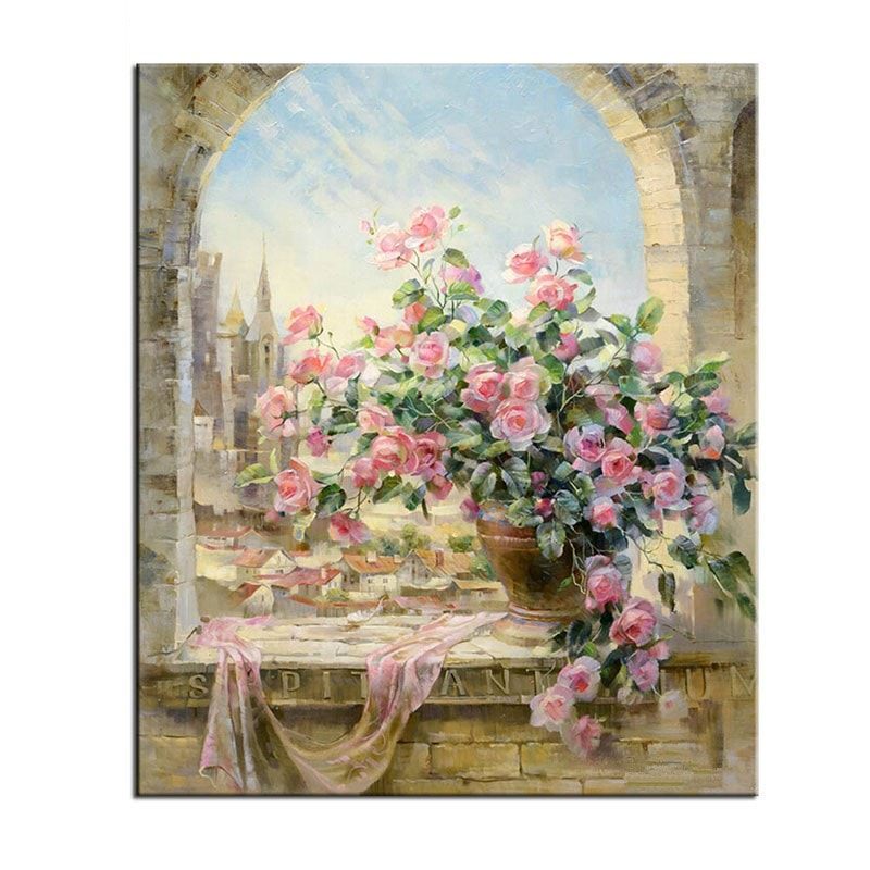 "Flowers Scene ""Painting By Numbers Kit"""