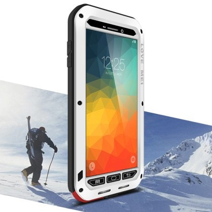 * Samsung Case * Note5 SnowProof DirthProof Shockproof Aluminum Case Cover + Tempered Glass