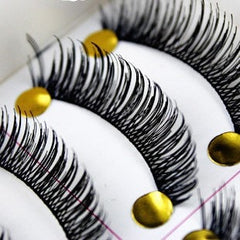 10 Pairs Cotton False Eyelashes Extension - Long Thick Look