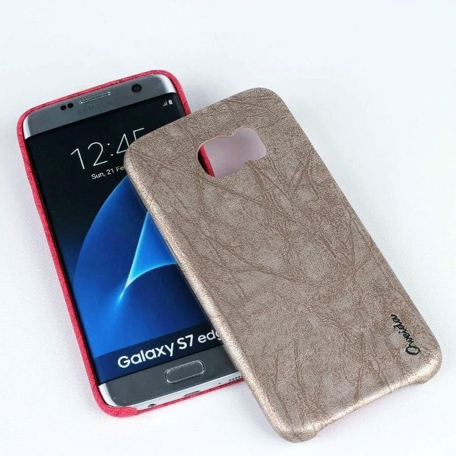 * Samsung  Case * Galaxy S7 Edge Leather Ultra Thin Protective Back Cover