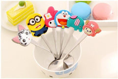 Silicone Cartoon Characters Stainless Steel Spoon Children's Spoon