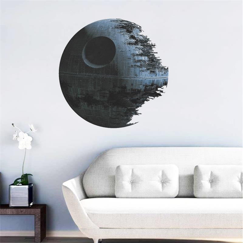 3D DEATH STAR ARTWORK Star Wars Wall Sticker