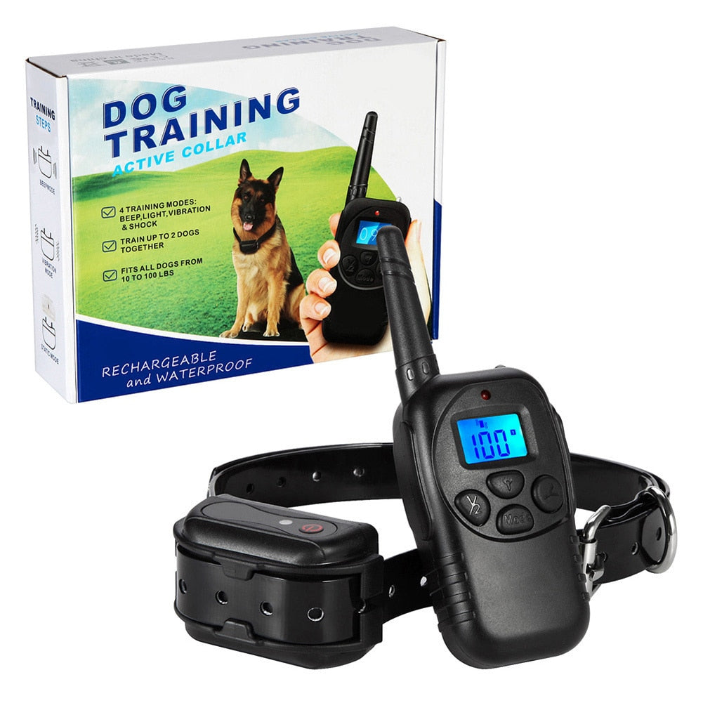 Anti-Bark Collar-High Quality  training mode Blue Screen Deeply Premium Waterproof Bark Collar Remote Training
