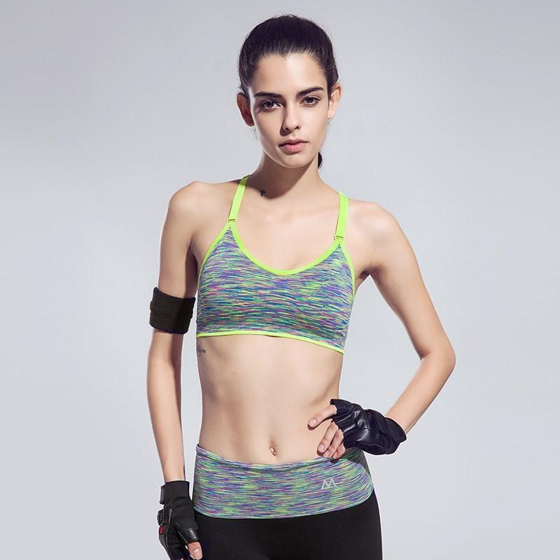 Quick-Drying Cushioned Gym Bra Without Seams