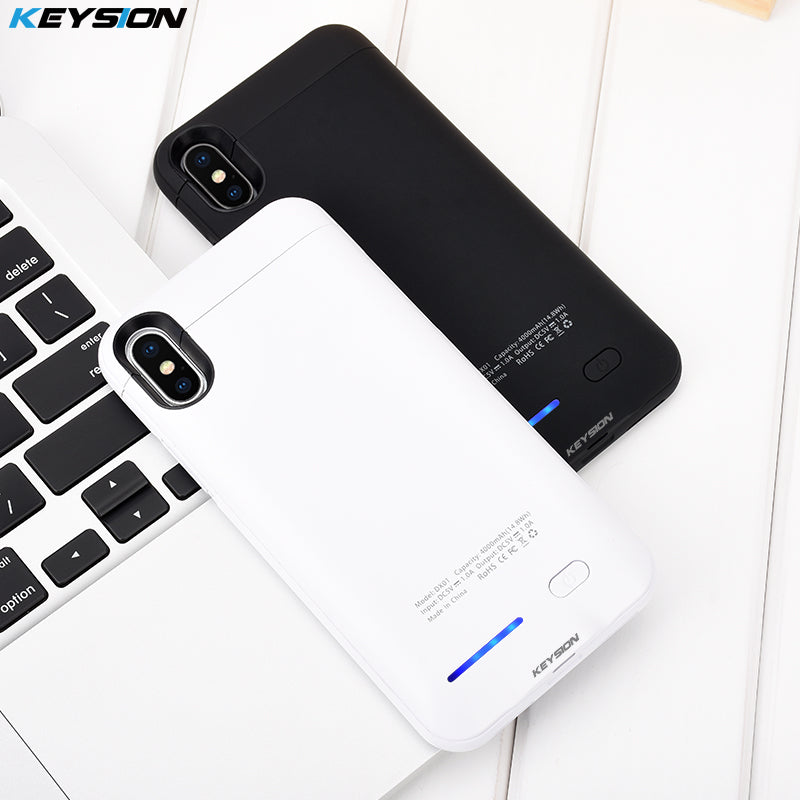 4000mAh Power Bank Case for iPhone X Ultra Slim Portable Charging External Backup