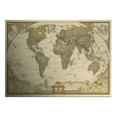 FREE Large Vintage World Map Home Antique Poster