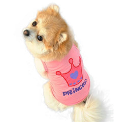 Pink Crown Princess Vest Sleeveless T-Shirts Dog Clothes