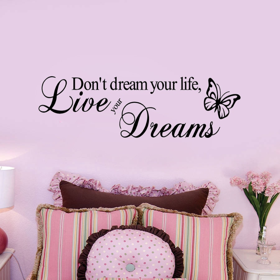 FREE Live Your Dream Quote Wall Stickers