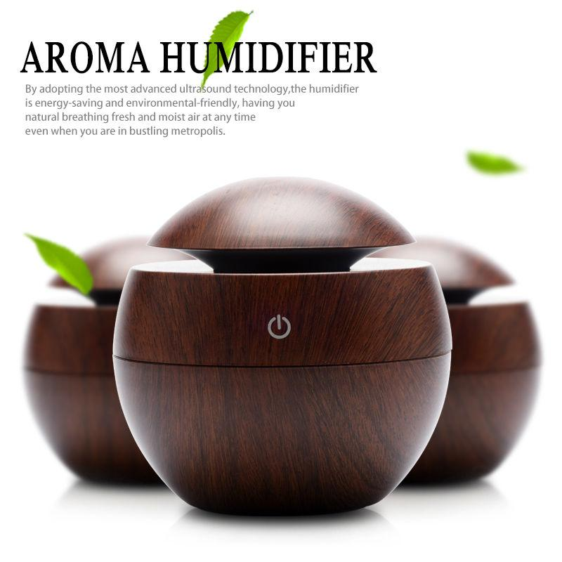 AirFlow - Mini LED Wooden Aroma Air Diffuser