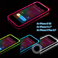 * iPhone Case* 5/5S 6/6S/ 6Plus/ 6SPlus LED Flash Light Up Case - Remind Incoming Call