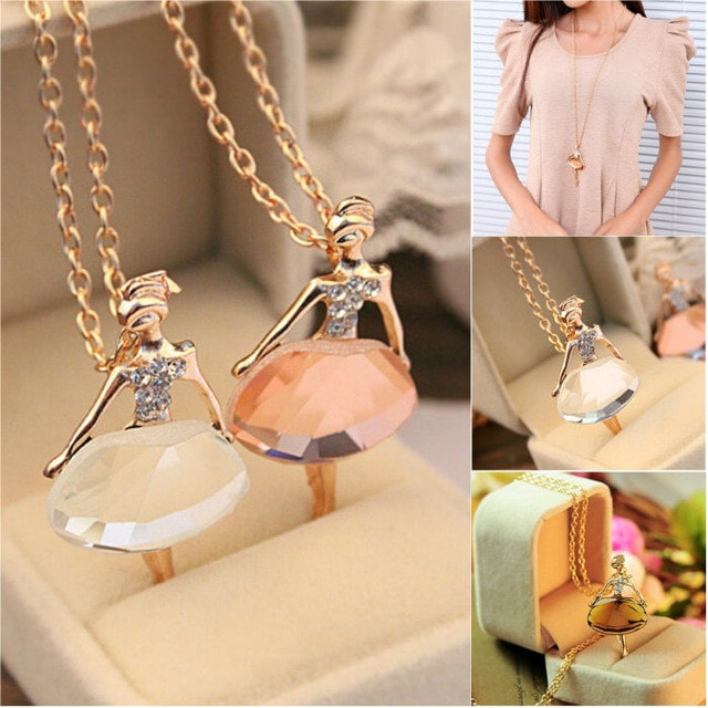Ballet Girl Long Necklace