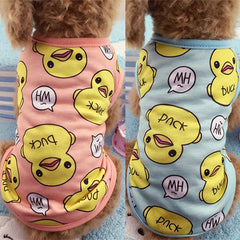 Fleece Cotton Duck Printed Vest Coat Pet Dog Clothes