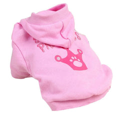 Crown Pattern Cotton Coat Hooded Dog Clothes