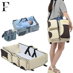 Maternity Bag + Change Station + Folding Baby Bed
