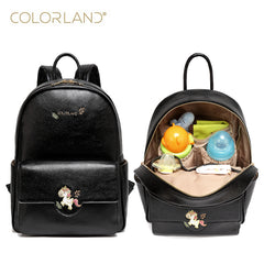 Pu leather baby travel mummy maternity changing Nappy diaper tote bag