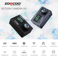 "Action Camera  Ultra HD 4K  GPS 2.45"" Touch LCD"