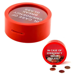 Safe Round Red Money Box