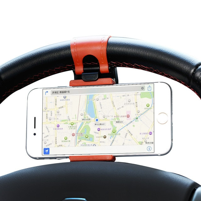 FREE Universal Car Steering Wheel Phone Holder For iPhone 4 5 6 6S Plus For Samsung Galaxy S4 S5 s6 edge