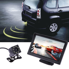 LCD Rear View Display Monitor Waterproof Night Vision Reversing Backup Rear View Camera