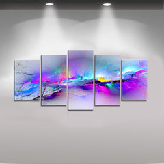 5 Panel Modern Abstract Print On Canvas