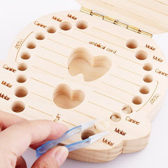 Wood Milk Tooth Organizer