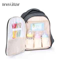 Stylish Pure color maternity mother  travel nappy bag