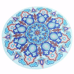 Blue Boho Gypsy Round Beach Cover up Pareo