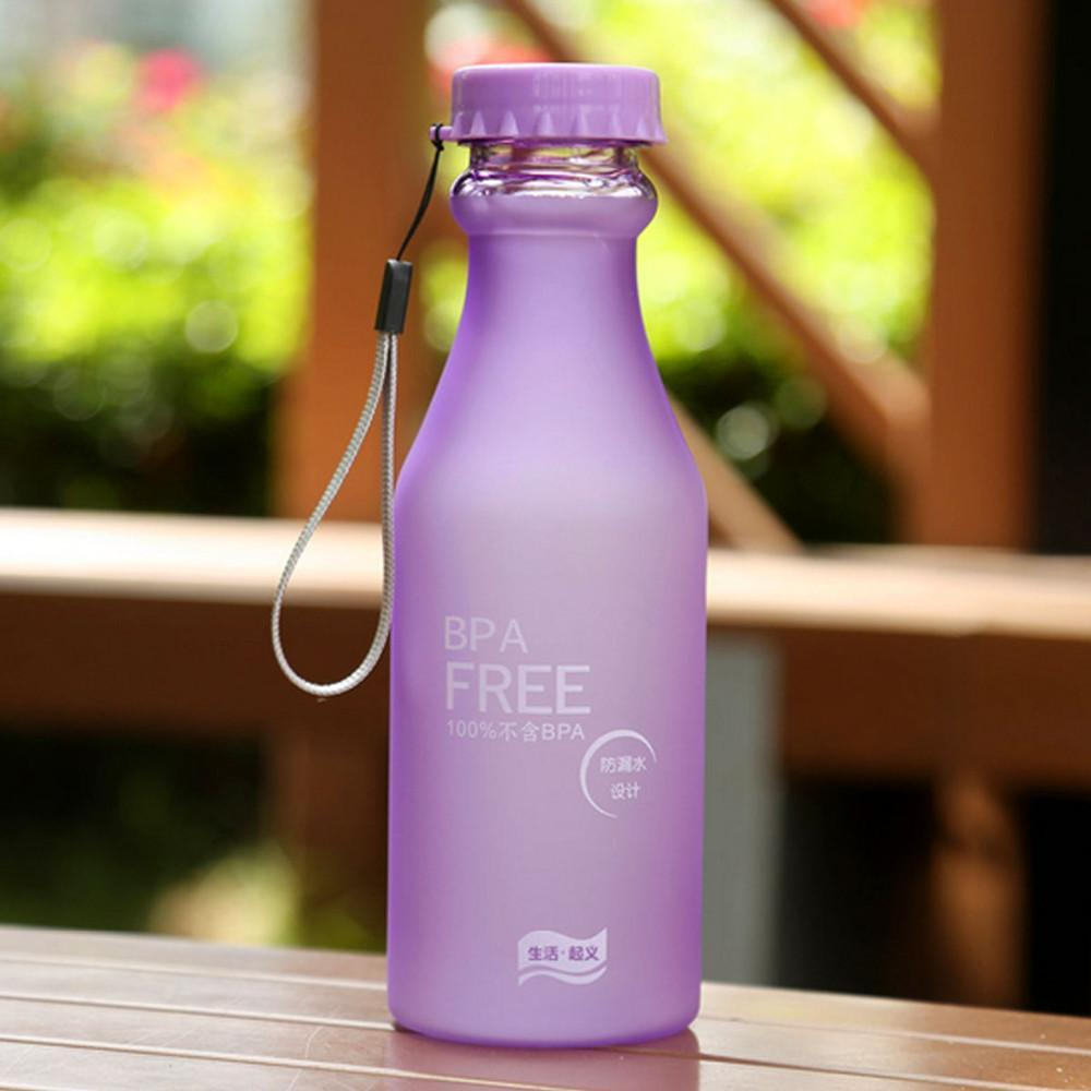 550ML Candy Colord Plastic Water Bottle - BPA Free