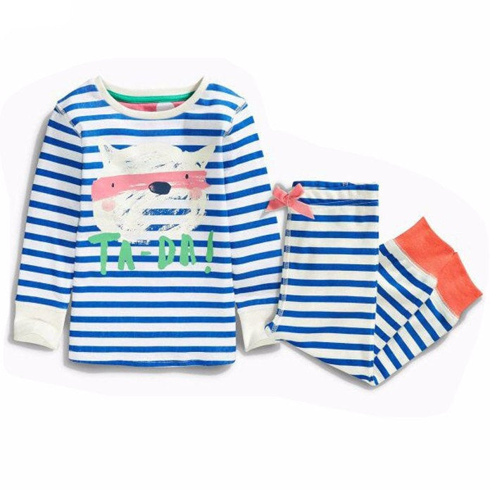Animal Stripes Girls Pajamas